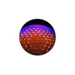 Abstract Ball Colorful Colors Golf Ball Marker (10 Pack)