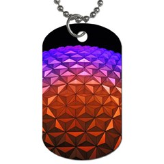 Abstract Ball Colorful Colors Dog Tag (two Sides)