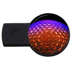 Abstract Ball Colorful Colors Usb Flash Drive Round (2 Gb)