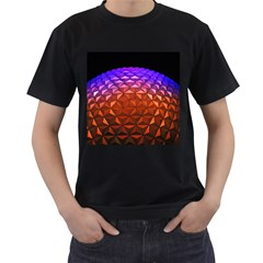 Abstract Ball Colorful Colors Men s T Shirt (black) (two Sided)