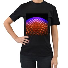 Abstract Ball Colorful Colors Women s T Shirt (black) (two Sided)