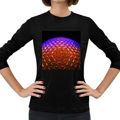 Abstract Ball Colorful Colors Women s Long Sleeve Dark T Shirts