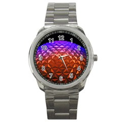Abstract Ball Colorful Colors Sport Metal Watch