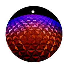Abstract Ball Colorful Colors Round Ornament (two Sides)