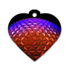 Abstract Ball Colorful Colors Dog Tag Heart (two Sides)