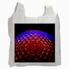 Abstract Ball Colorful Colors Recycle Bag (one Side)