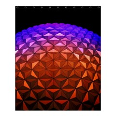 Abstract Ball Colorful Colors Shower Curtain 60  X 72  (medium)
