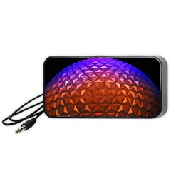 Abstract Ball Colorful Colors Portable Speaker (black)