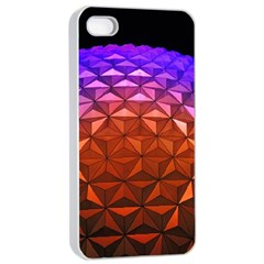 Abstract Ball Colorful Colors Apple iPhone 4/4s Seamless Case (White)
