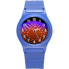 Abstract Ball Colorful Colors Round Plastic Sport Watch (s)