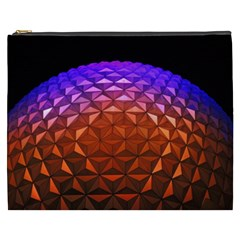 Abstract Ball Colorful Colors Cosmetic Bag (xxxl)