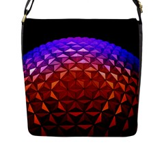 Abstract Ball Colorful Colors Flap Messenger Bag (l)