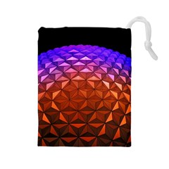 Abstract Ball Colorful Colors Drawstring Pouches (large)