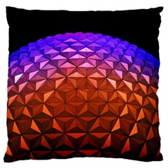 Abstract Ball Colorful Colors Large Flano Cushion Case (two Sides)