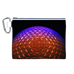 Abstract Ball Colorful Colors Canvas Cosmetic Bag (l)