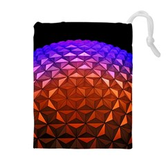 Abstract Ball Colorful Colors Drawstring Pouches (extra Large)