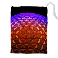 Abstract Ball Colorful Colors Drawstring Pouches (xxl)
