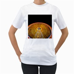Abstract Blur Bright Circular Women s T Shirt (white) (two Sided)