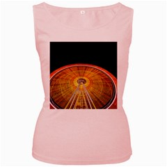 Abstract Blur Bright Circular Women s Pink Tank Top