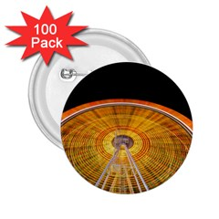 Abstract Blur Bright Circular 2.25  Buttons (100 pack)