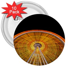 Abstract Blur Bright Circular 3  Buttons (10 Pack)