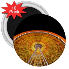 Abstract Blur Bright Circular 3  Magnets (10 Pack)
