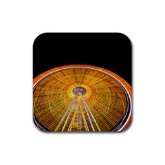 Abstract Blur Bright Circular Rubber Coaster (square)