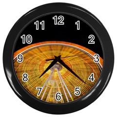 Abstract Blur Bright Circular Wall Clocks (black)