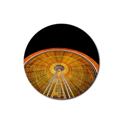 Abstract Blur Bright Circular Rubber Round Coaster (4 pack)
