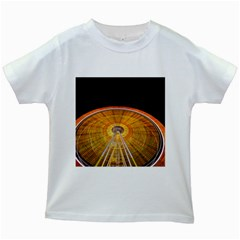 Abstract Blur Bright Circular Kids White T-Shirts