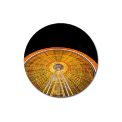 Abstract Blur Bright Circular Magnet 3  (round)
