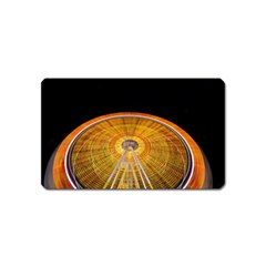 Abstract Blur Bright Circular Magnet (name Card)