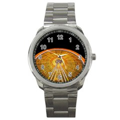 Abstract Blur Bright Circular Sport Metal Watch