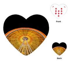 Abstract Blur Bright Circular Playing Cards (Heart)
