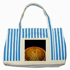 Abstract Blur Bright Circular Striped Blue Tote Bag
