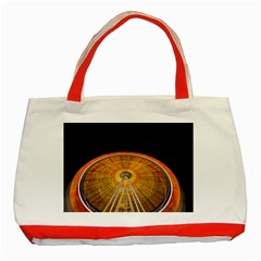 Abstract Blur Bright Circular Classic Tote Bag (red)
