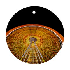 Abstract Blur Bright Circular Round Ornament (two Sides)