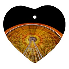 Abstract Blur Bright Circular Heart Ornament (two Sides)