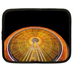 Abstract Blur Bright Circular Netbook Case (large)