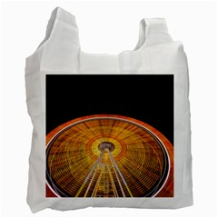 Abstract Blur Bright Circular Recycle Bag (two Side)