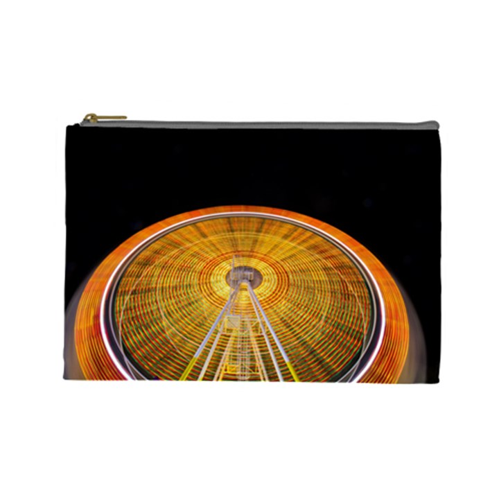 Abstract Blur Bright Circular Cosmetic Bag (Large)