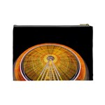 Abstract Blur Bright Circular Cosmetic Bag (Large)  Back