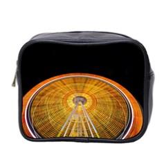 Abstract Blur Bright Circular Mini Toiletries Bag 2 Side