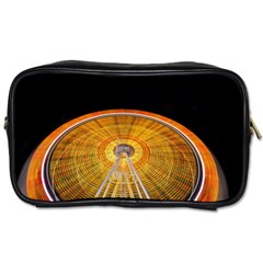 Abstract Blur Bright Circular Toiletries Bags 2 Side