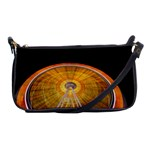 Abstract Blur Bright Circular Shoulder Clutch Bags Front