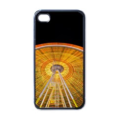 Abstract Blur Bright Circular Apple Iphone 4 Case (black)