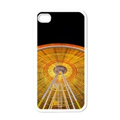 Abstract Blur Bright Circular Apple Iphone 4 Case (white)