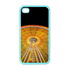 Abstract Blur Bright Circular Apple Iphone 4 Case (color)