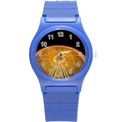 Abstract Blur Bright Circular Round Plastic Sport Watch (s)