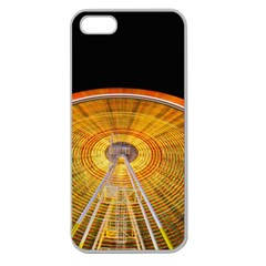 Abstract Blur Bright Circular Apple Seamless Iphone 5 Case (clear)